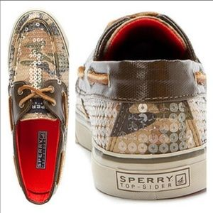 Sperry Sequin Deck Top-sider cano shoes